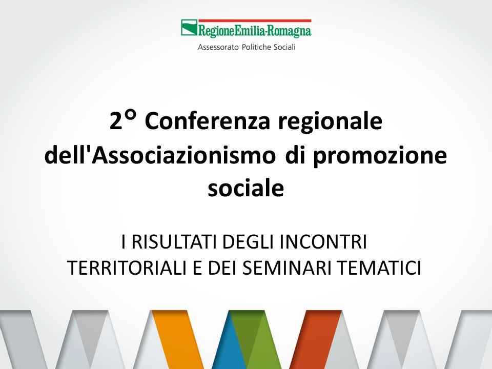 2° Conferenza regionale dell Associazionismo di promozione sociale