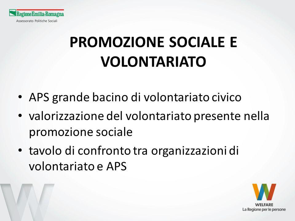 PROMOZIONE SOCIALE E VOLONTARIATO