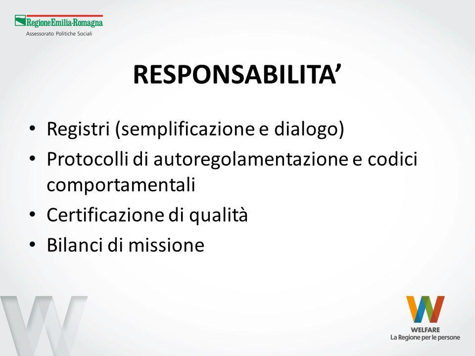 RESPONSABILITA' Registri (semplificazione e dialogo)