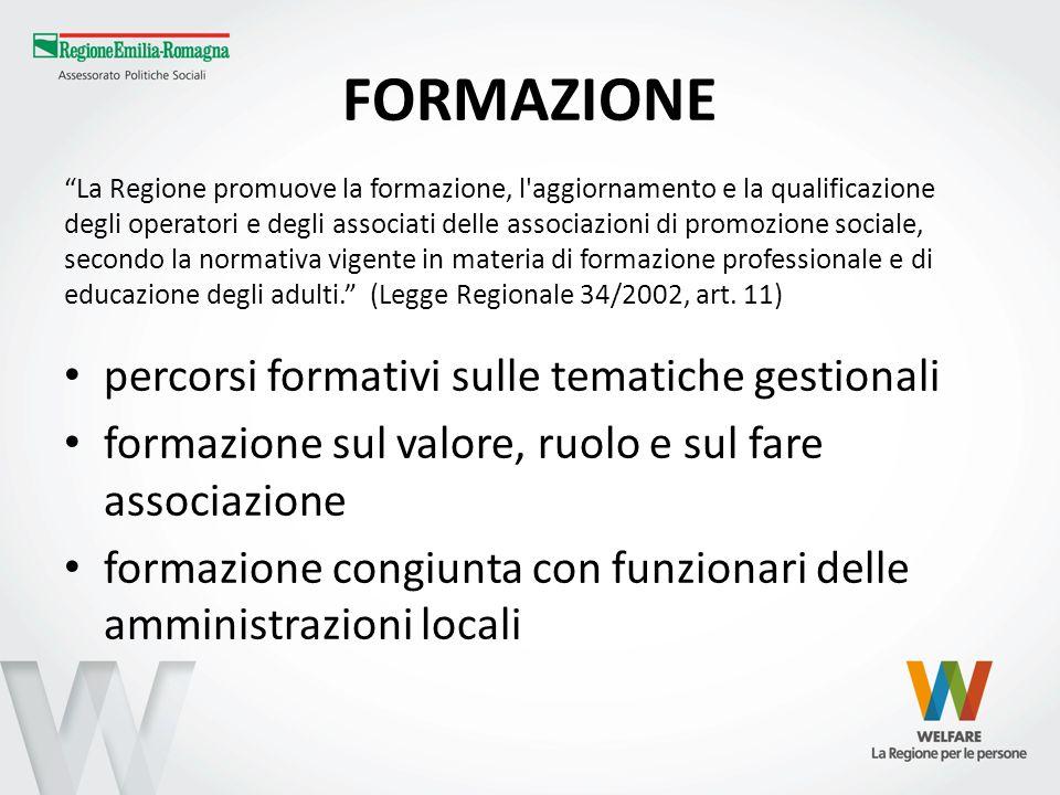 FORMAZIONE percorsi formativi sulle tematiche gestionali