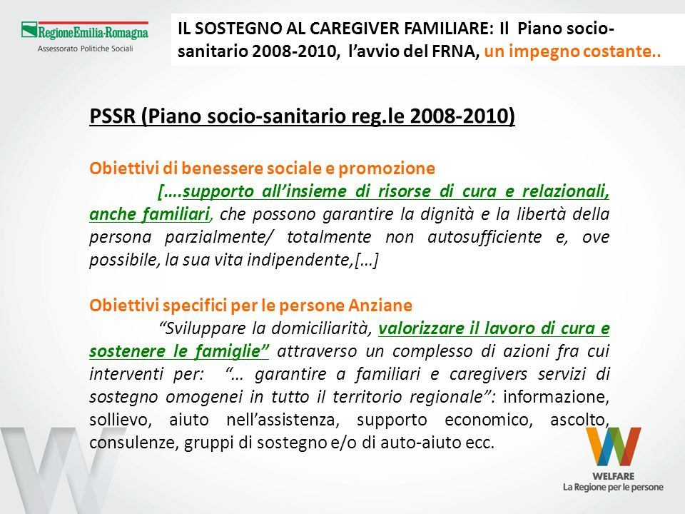 PSSR (Piano socio-sanitario reg.le 2008-2010)