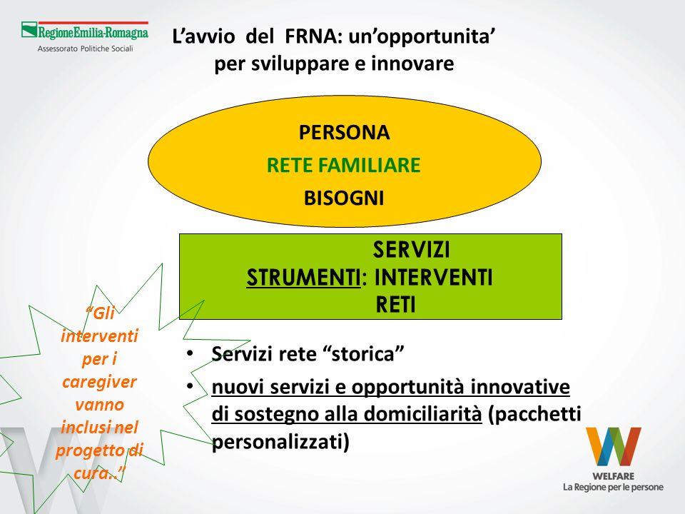 L'avvio del FRNA: un'opportunita' per sviluppare e innovare