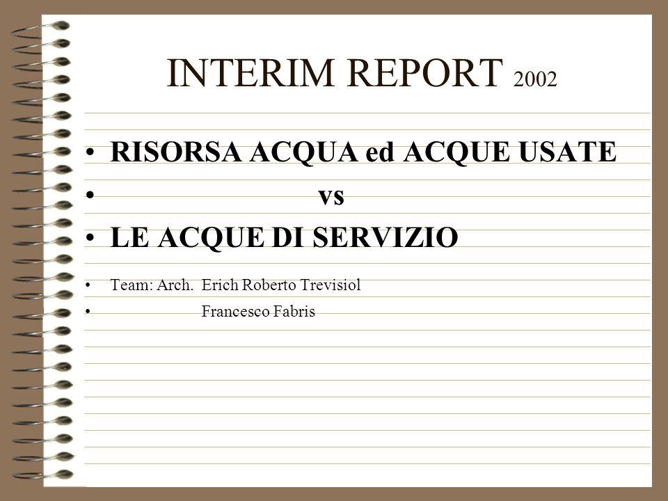 INTERIM REPORT 2002 RISORSA ACQUA ed ACQUE USATE vs