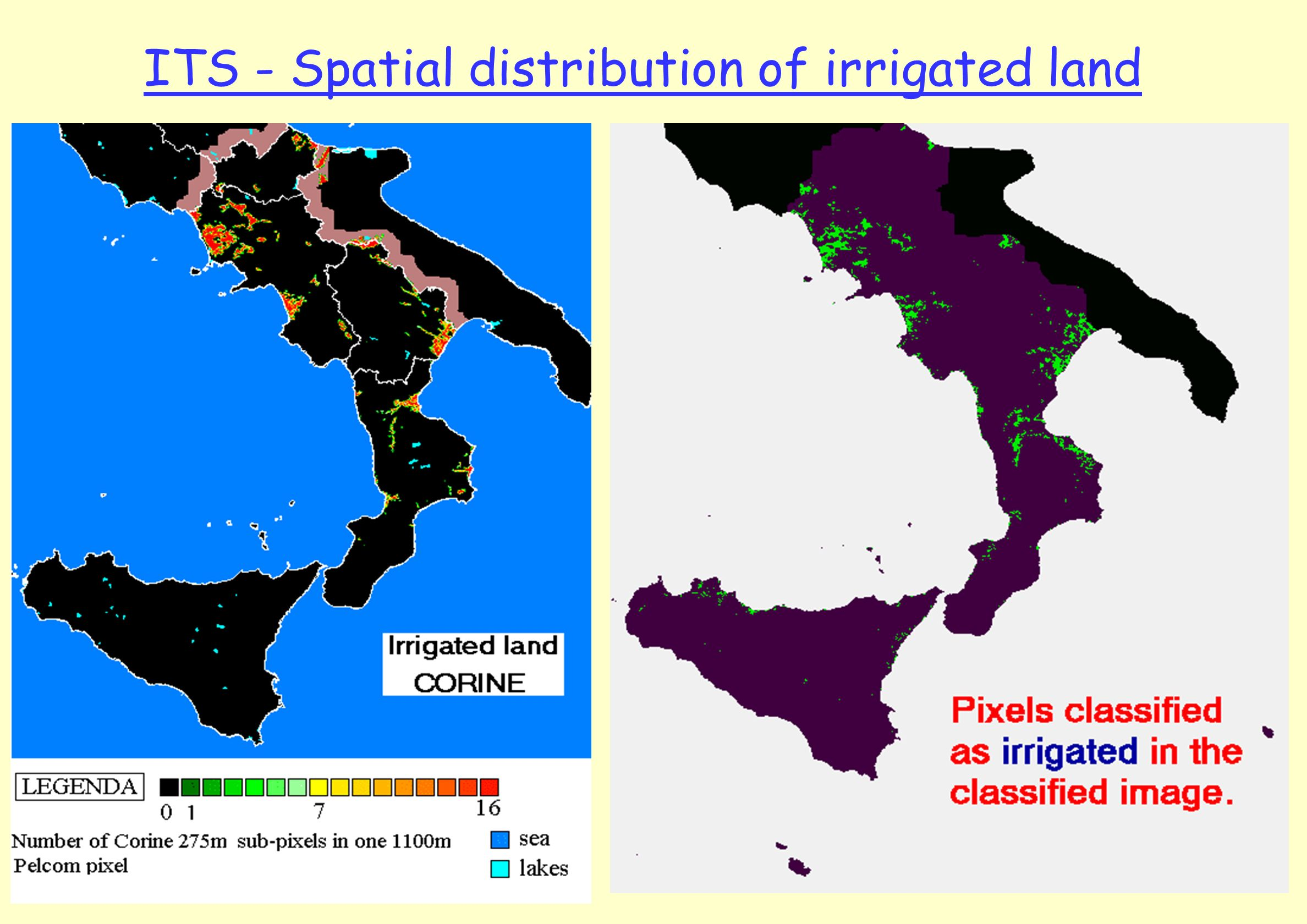 ITS - Spatial distribution of irrigated land