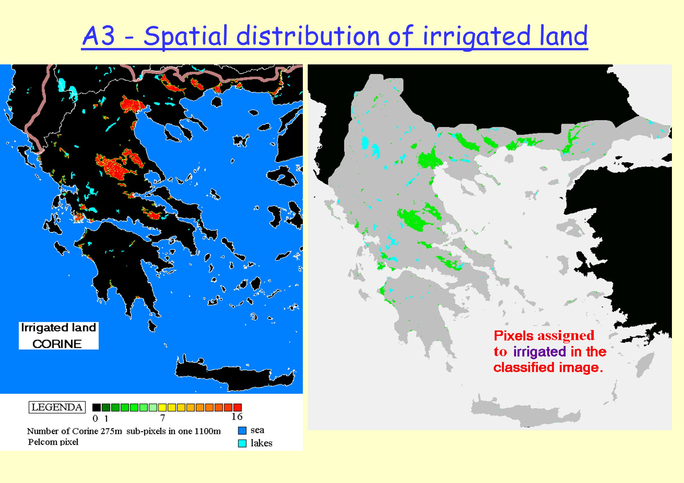 A3 - Spatial distribution of irrigated land