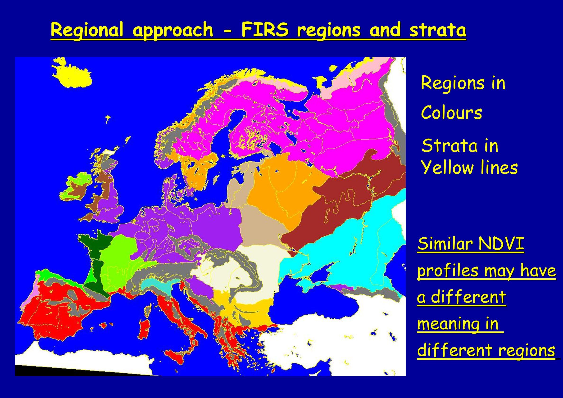 Regional approach - FIRS regions and strata