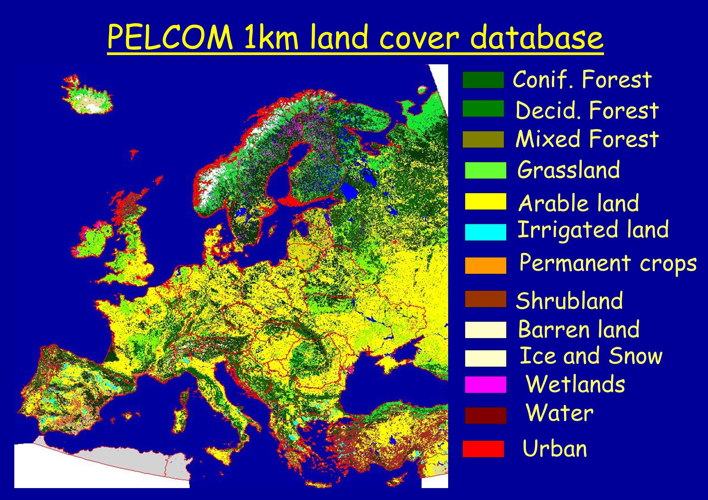PELCOM 1km land cover database