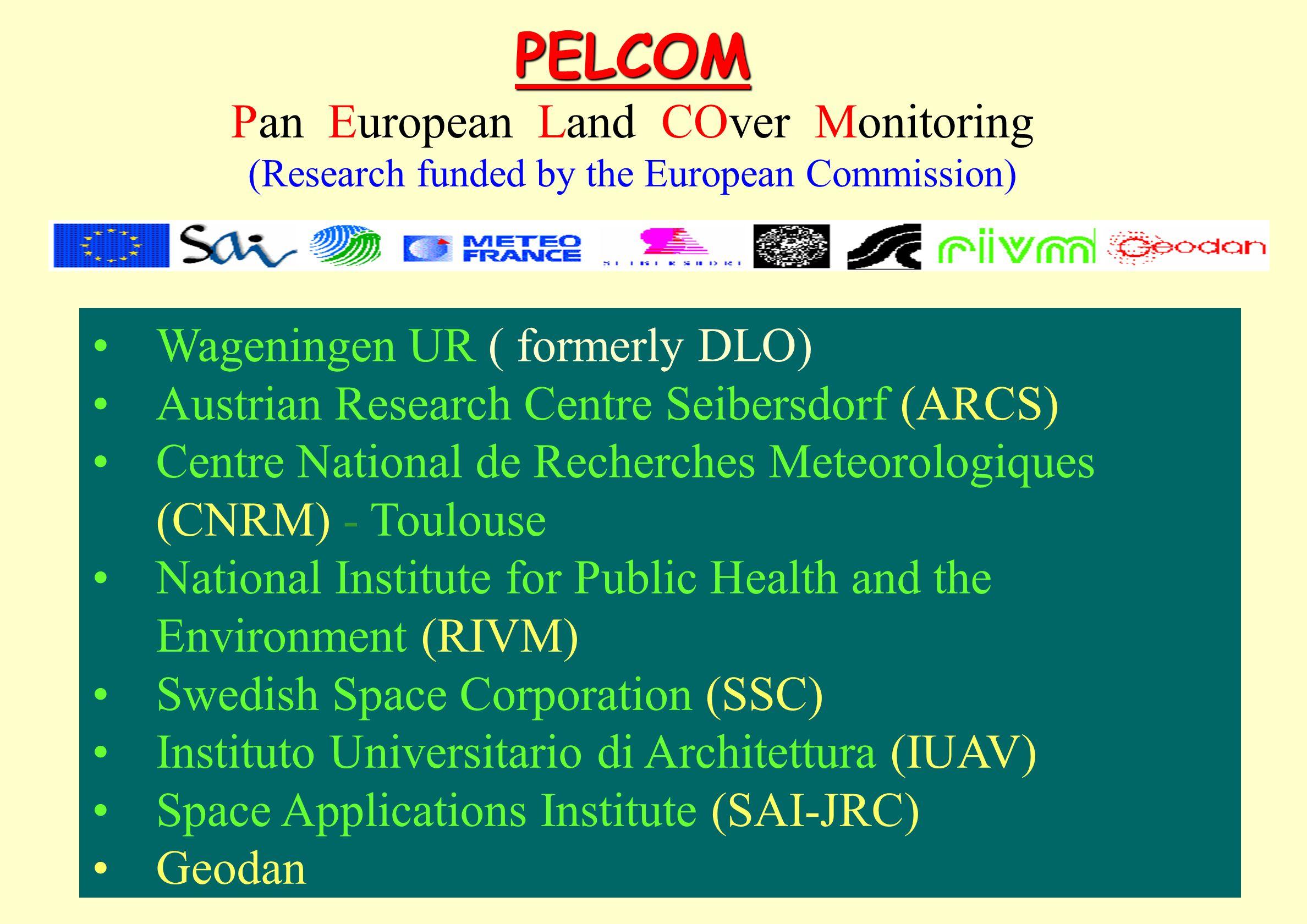 PELCOM Pan European Land COver Monitoring