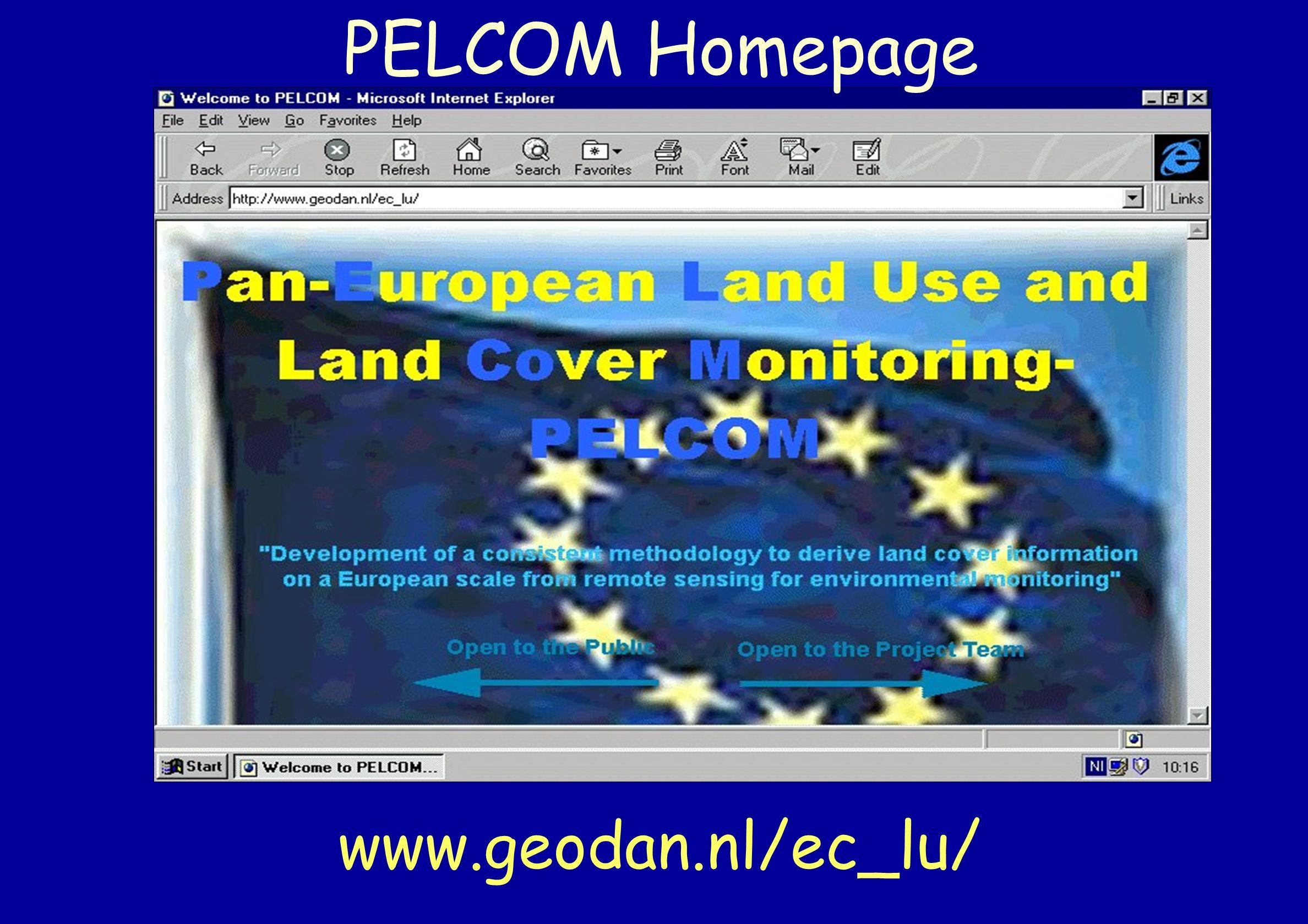 PELCOM Homepage www.geodan.nl/ec_lu/