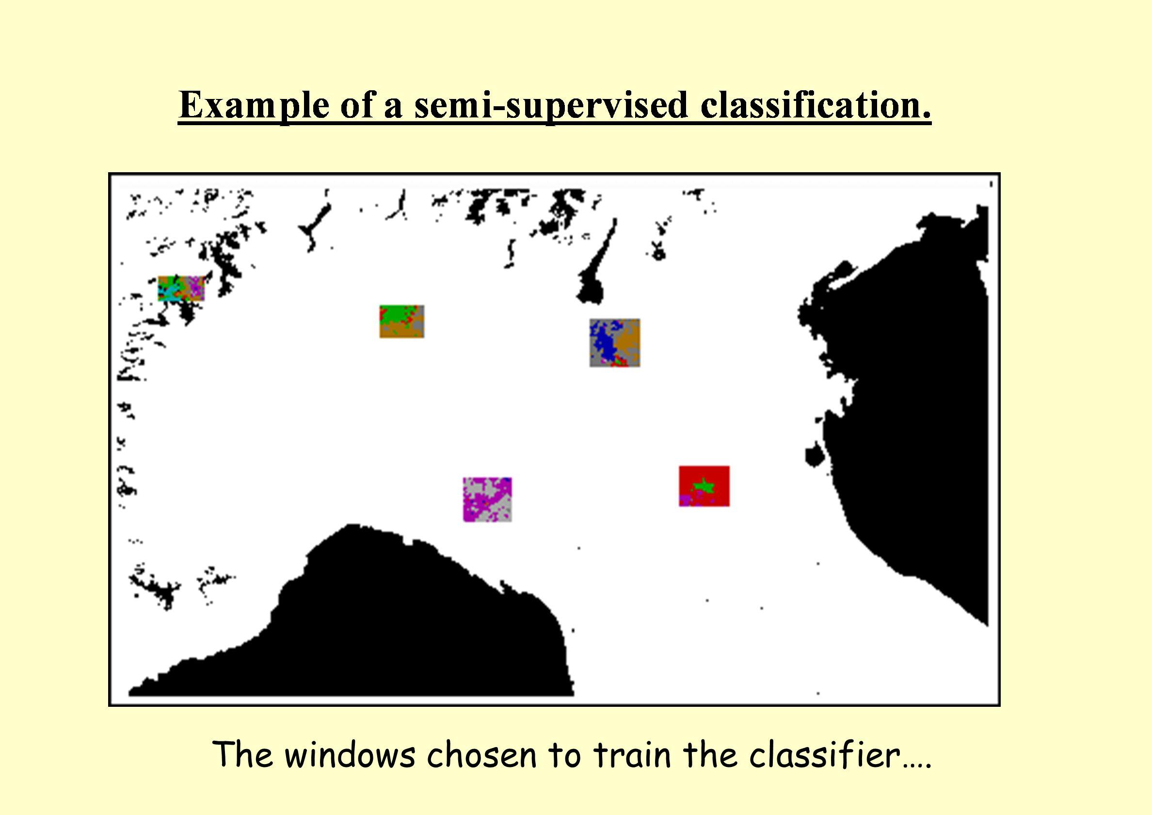 The windows chosen to train the classifier….