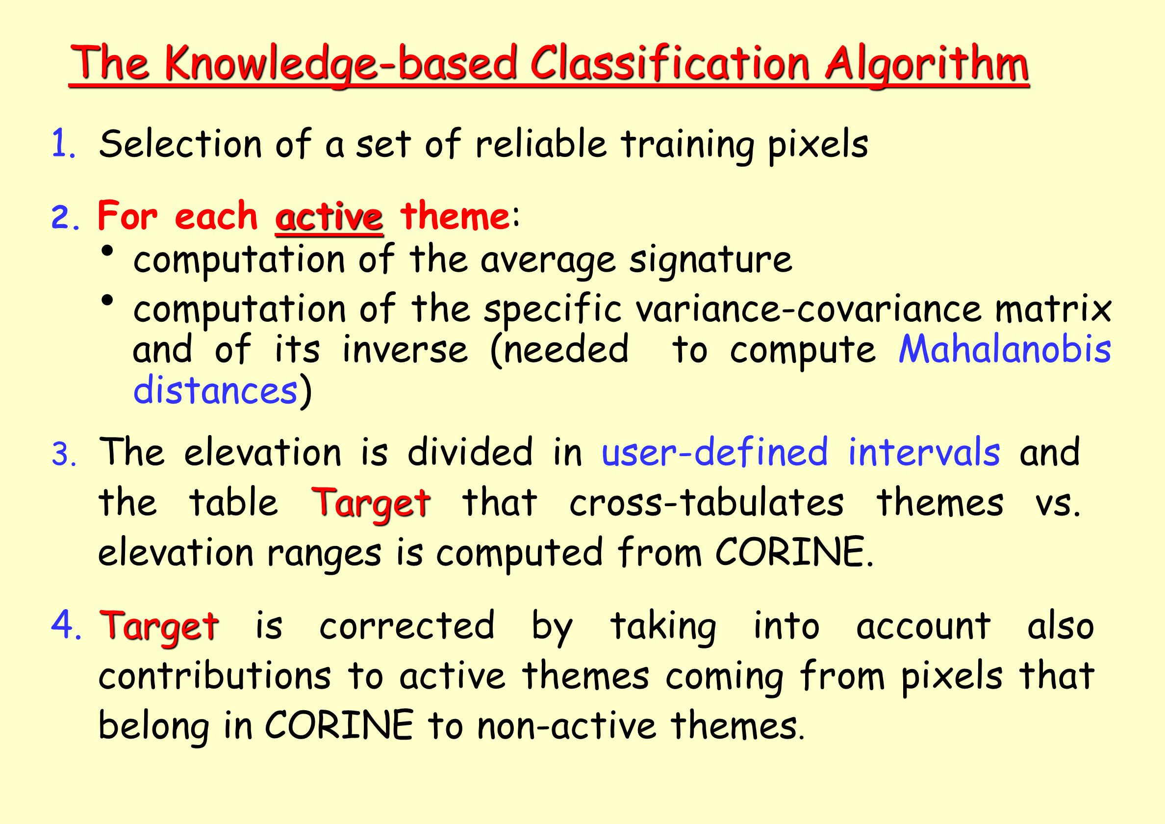 The Knowledge-based Classification Algorithm