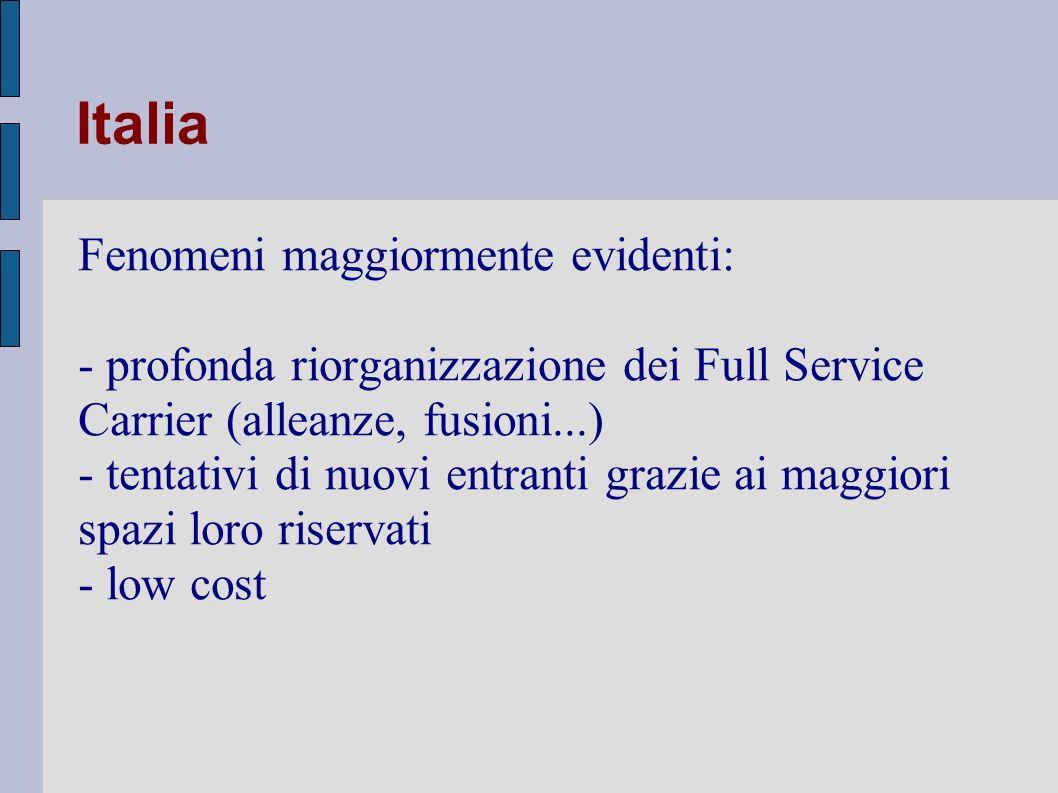 Italia Fenomeni maggiormente evidenti: