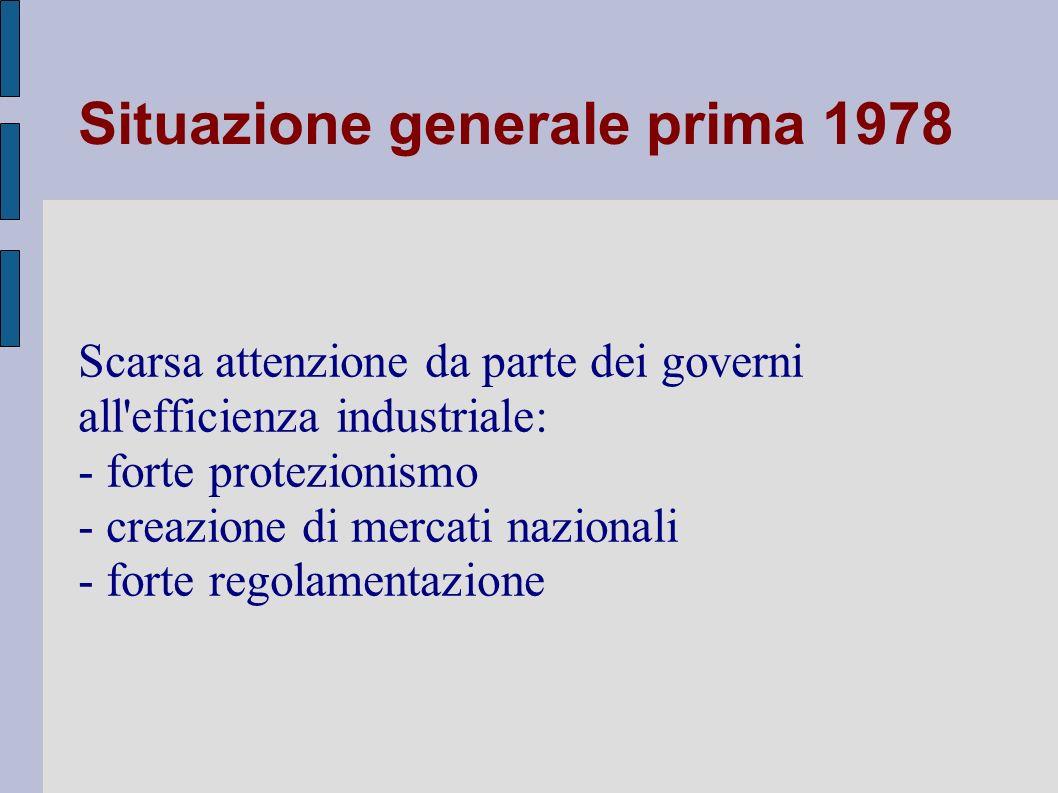 Situazione generale prima 1978