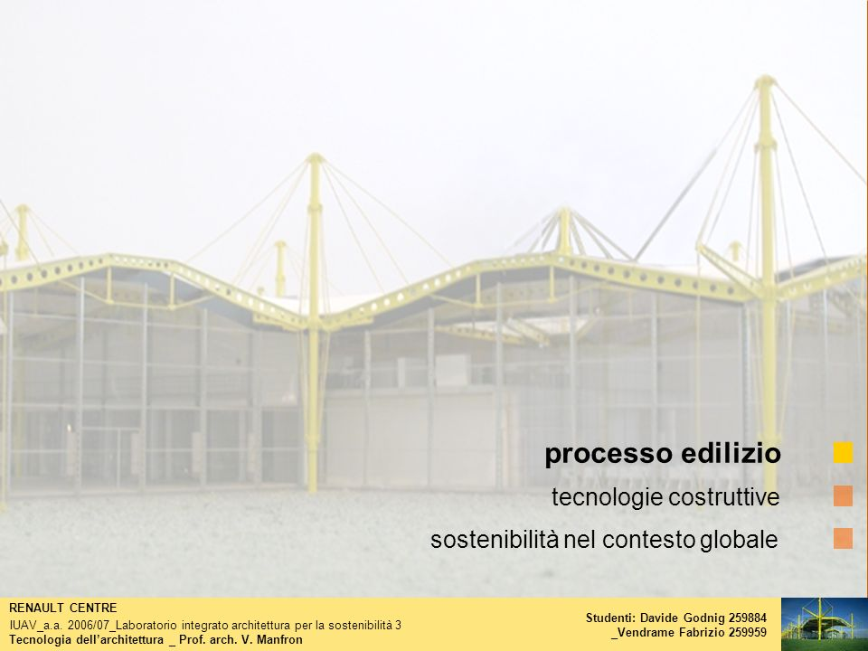 processo edilizio tecnologie costruttive