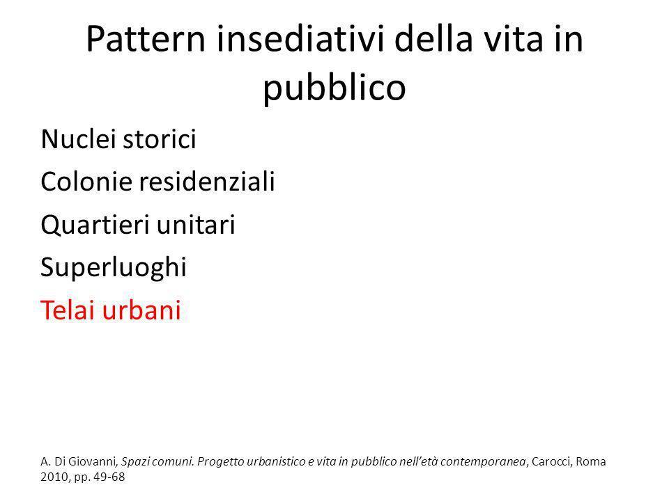Pattern insediativi della vita in pubblico