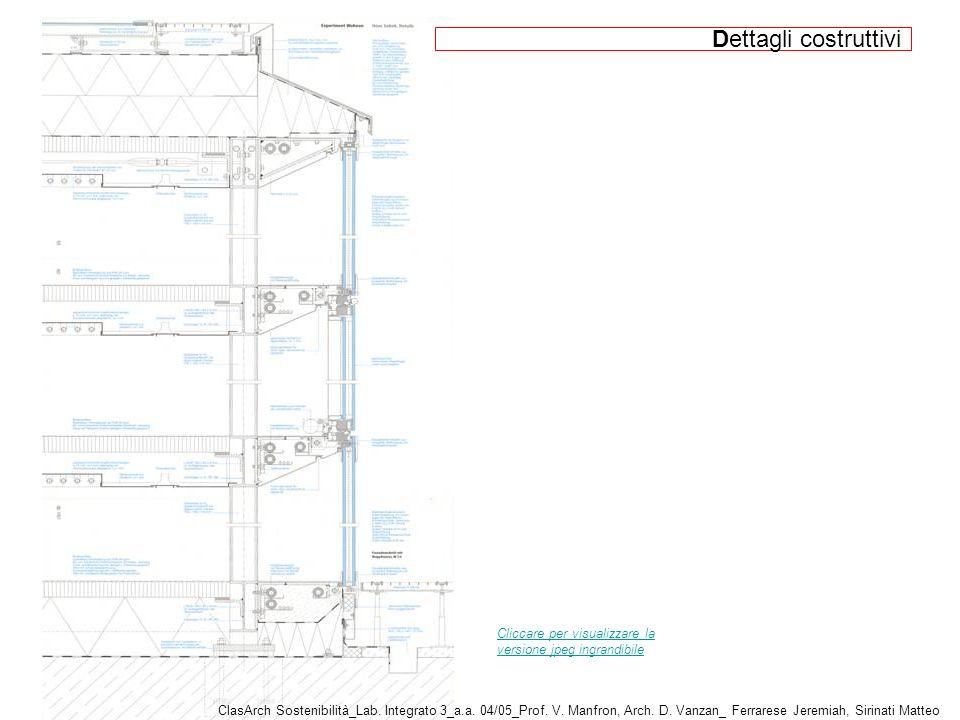 Dettagli costruttivi Cliccare per visualizzare la versione jpeg ingrandibile.