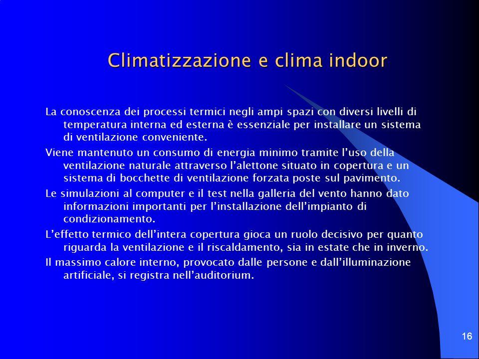 Climatizzazione e clima indoor
