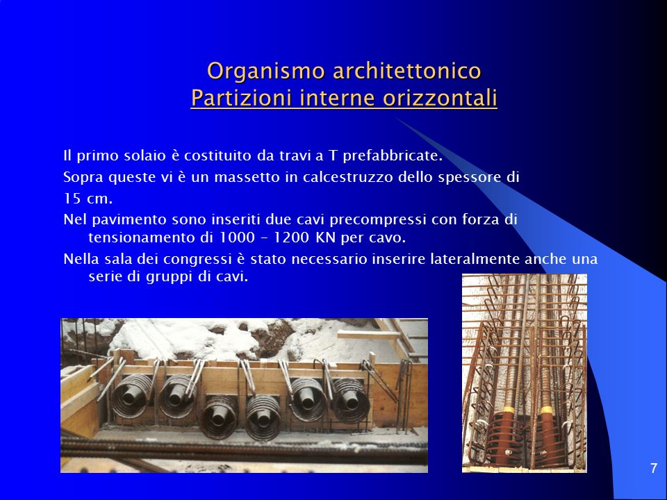 Organismo architettonico Partizioni interne orizzontali