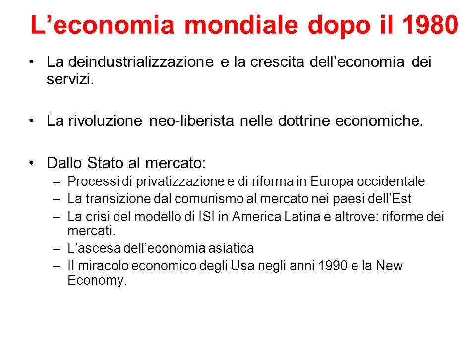 L'economia mondiale dopo il 1980