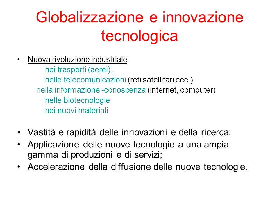 Globalizzazione e innovazione tecnologica