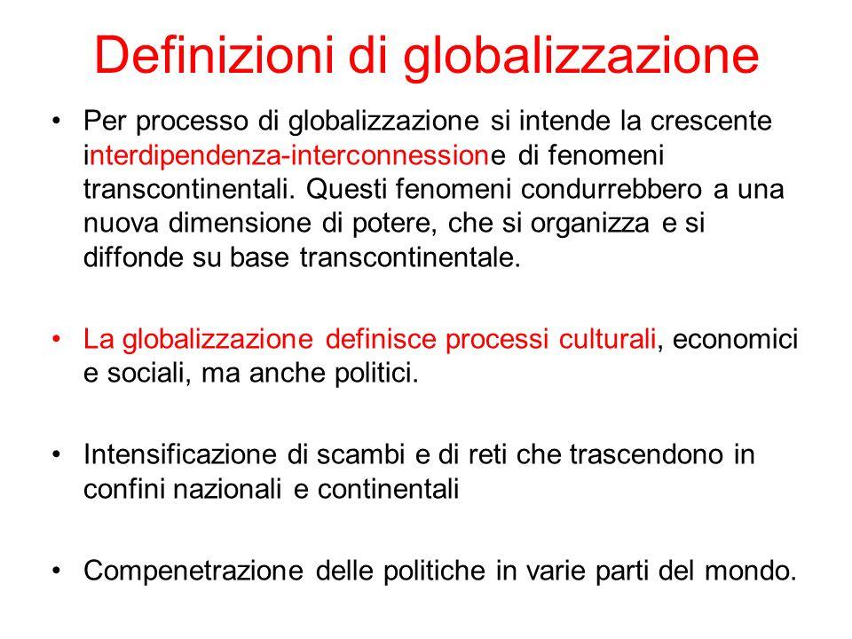 Definizioni di globalizzazione