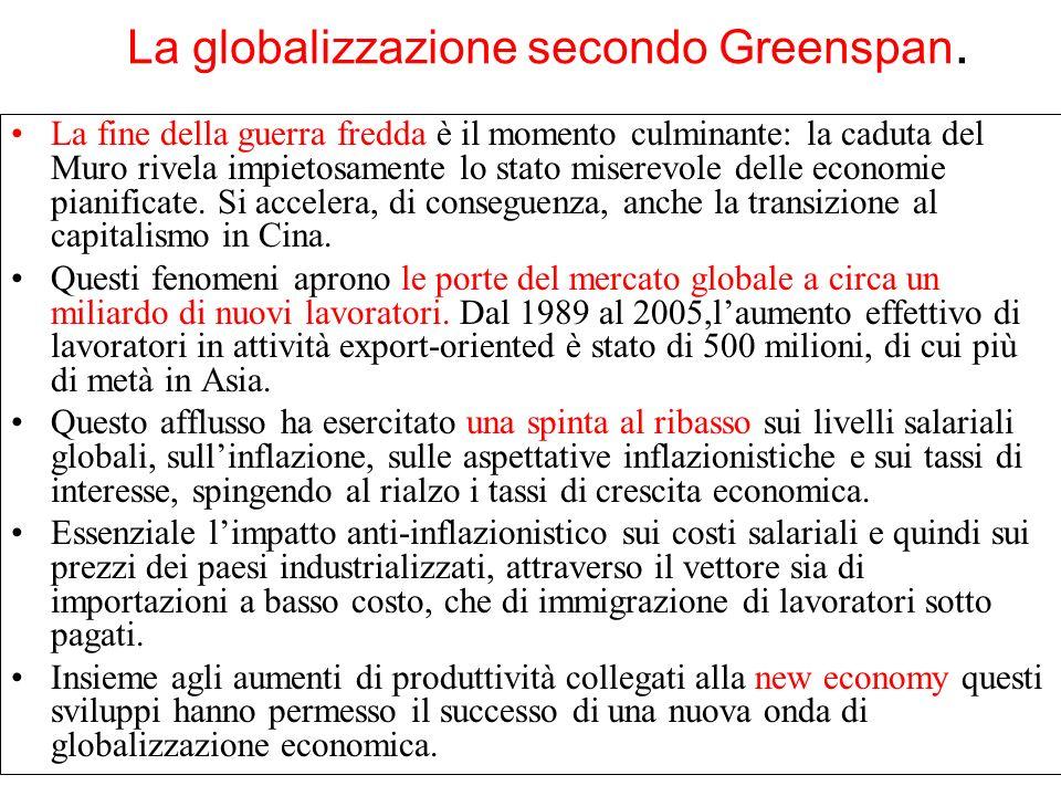 La globalizzazione secondo Greenspan.