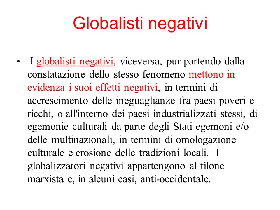 Globalisti negativi