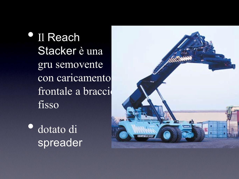 Il Reach Stacker è una gru semovente con caricamento frontale a braccio fisso