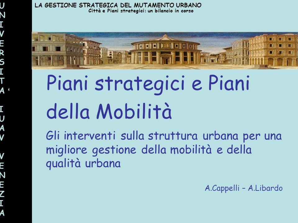 Piani strategici e Piani della Mobilità