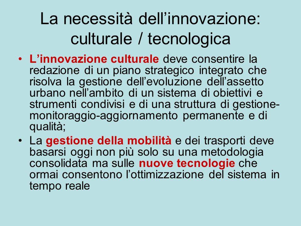 La necessità dell'innovazione: culturale / tecnologica