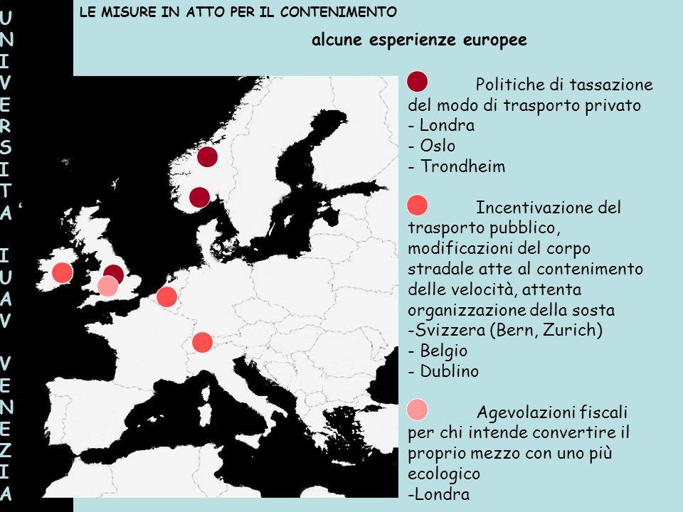 UNI VERSITA ' IUAV VENEZIA alcune esperienze europee