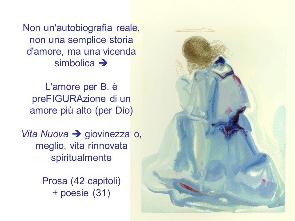 L amore per B. è preFIGURAzione di un amore più alto (per Dio)