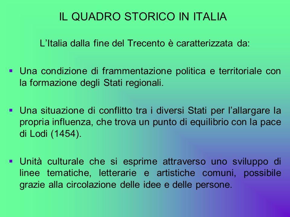 IL QUADRO STORICO IN ITALIA