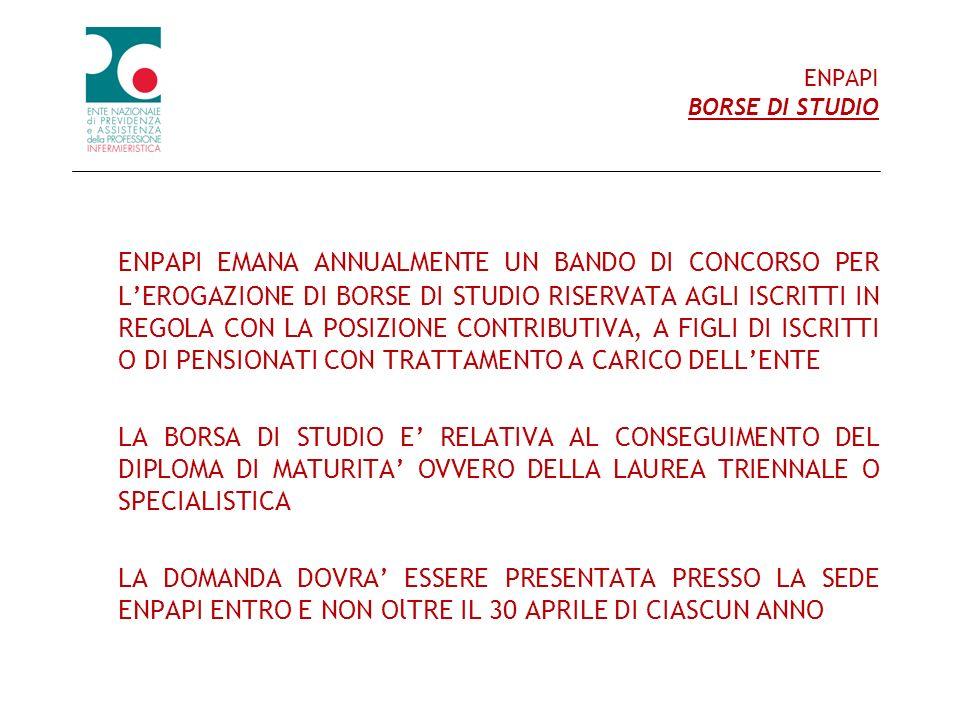 ENPAPI BORSE DI STUDIO