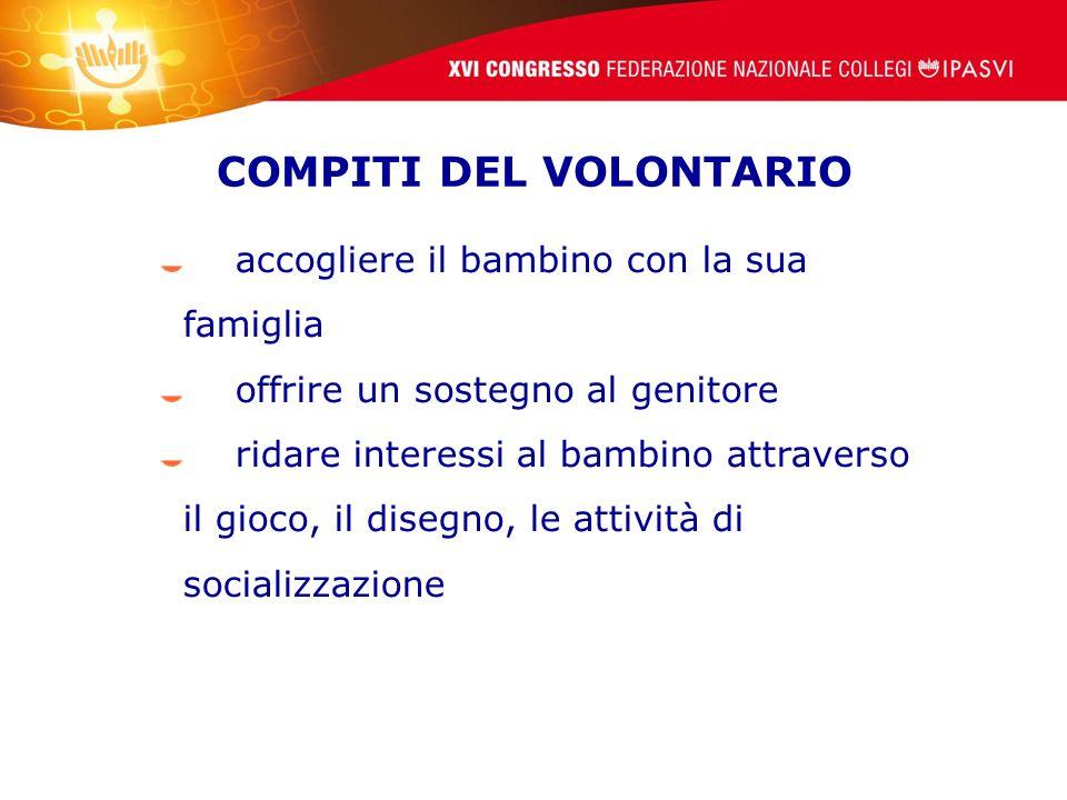 COMPITI DEL VOLONTARIO