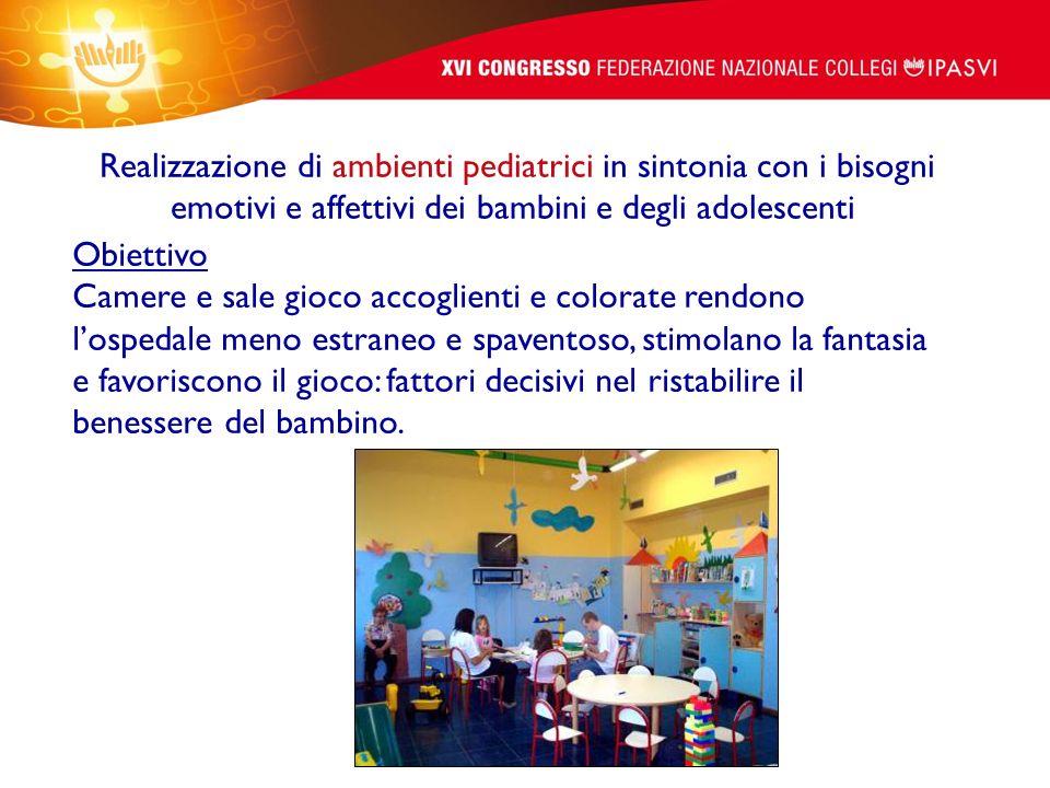Realizzazione di ambienti pediatrici in sintonia con i bisogni emotivi e affettivi dei bambini e degli adolescenti