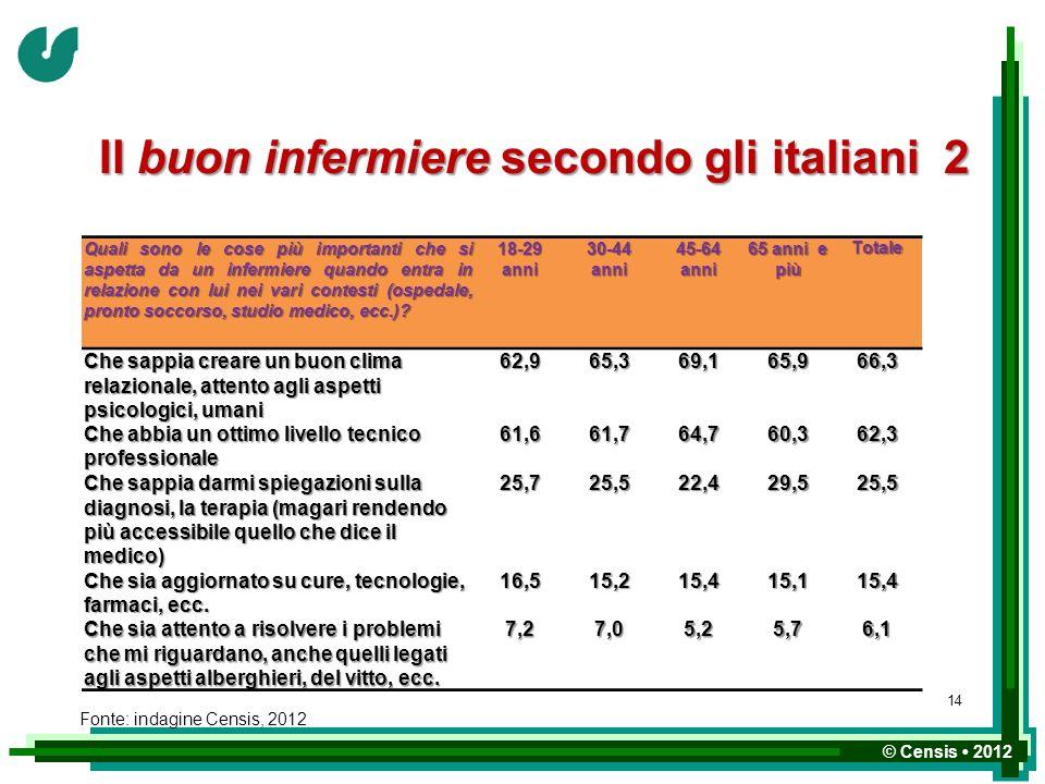 Il buon infermiere secondo gli italiani 2