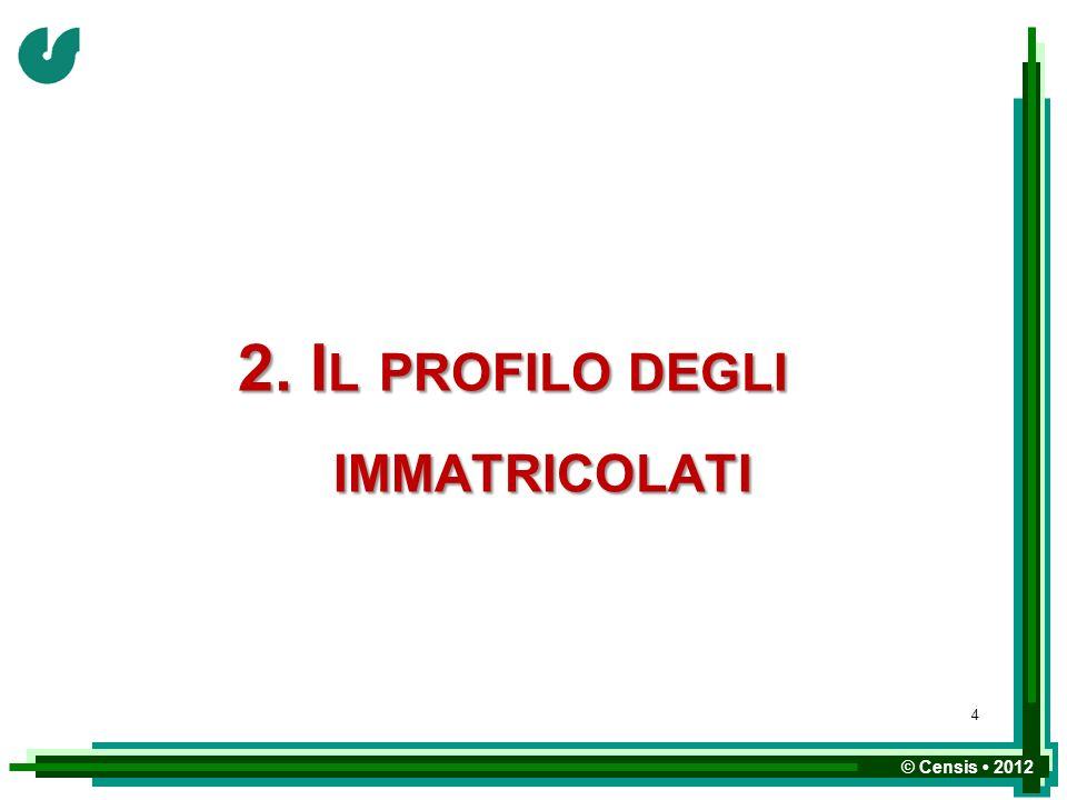 2. Il profilo degli immatricolati