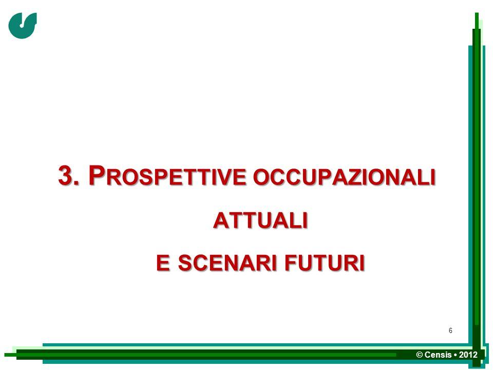 3. Prospettive occupazionali attuali e scenari futuri