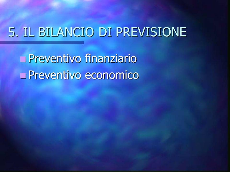5. IL BILANCIO DI PREVISIONE