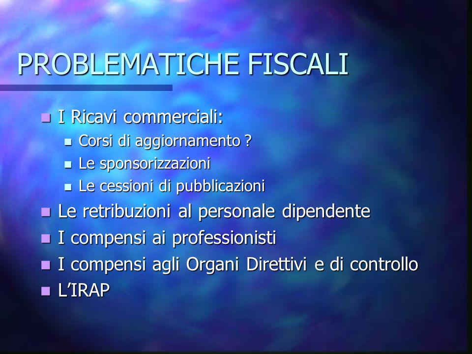 PROBLEMATICHE FISCALI