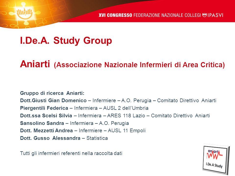 I.De.A. Study Group Aniarti (Associazione Nazionale Infermieri di Area Critica)
