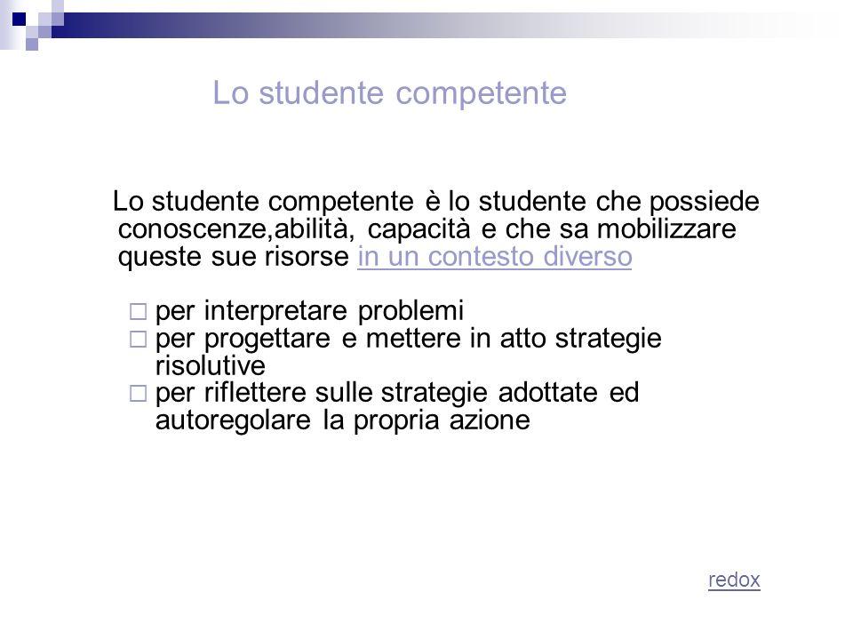 Lo studente competente