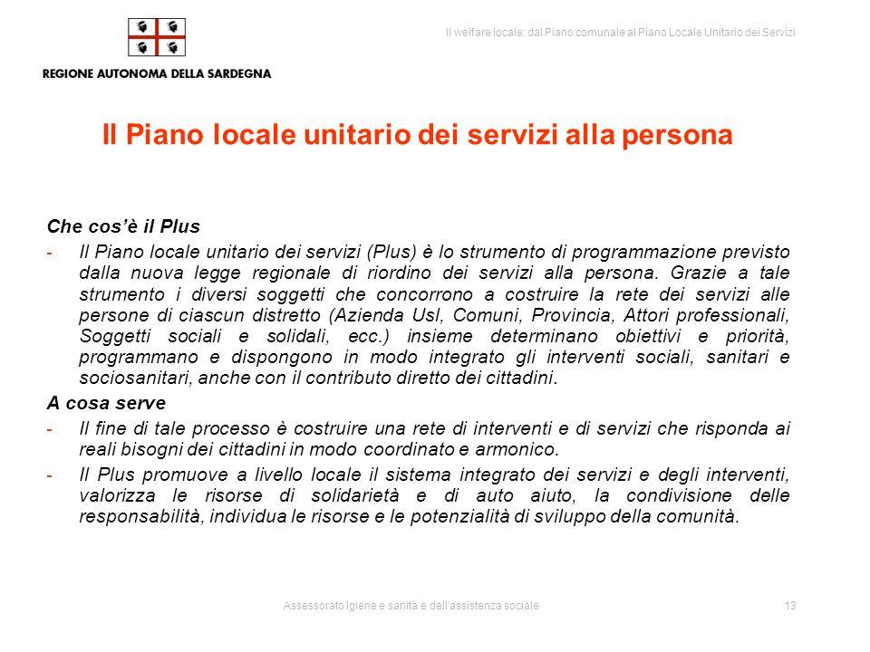 Il Piano locale unitario dei servizi alla persona