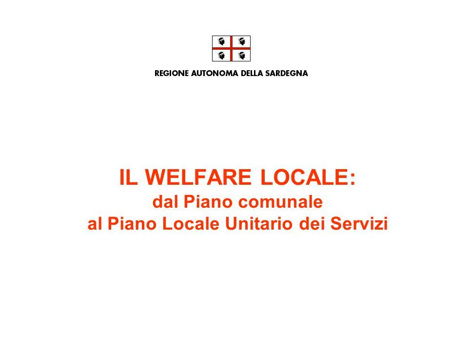 IL WELFARE LOCALE: dal Piano comunale al Piano Locale Unitario dei Servizi
