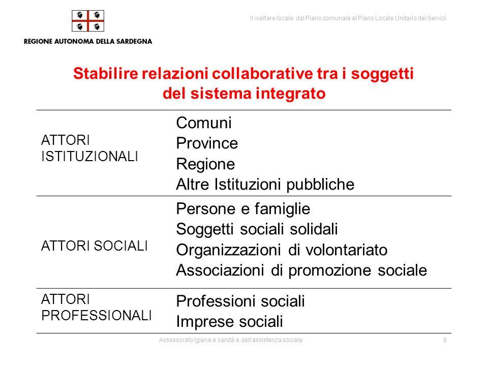 Stabilire relazioni collaborative tra i soggetti del sistema integrato