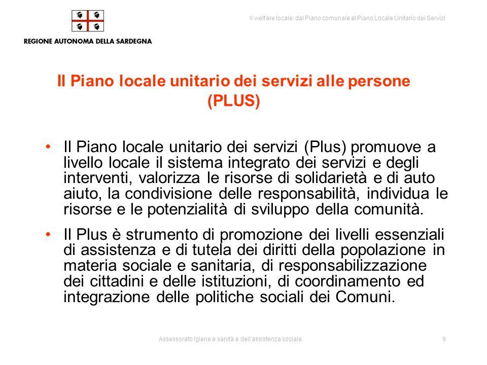 Il Piano locale unitario dei servizi alle persone (PLUS)