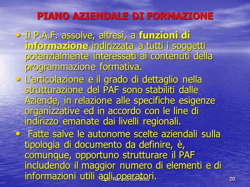 PIANO AZIENDALE DI FORMAZIONE