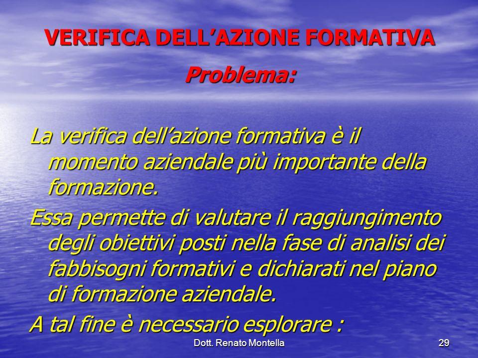 VERIFICA DELL'AZIONE FORMATIVA