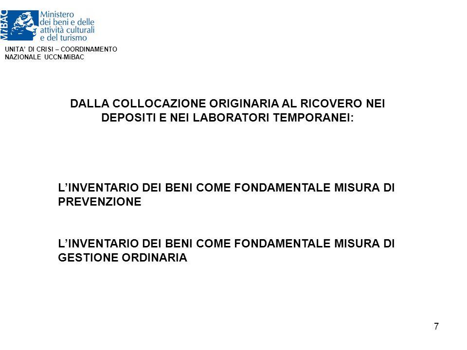L'INVENTARIO DEI BENI COME FONDAMENTALE MISURA DI PREVENZIONE